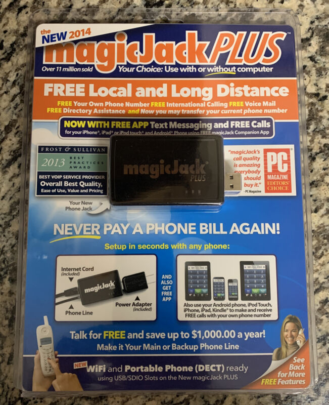 SEALED! MagicJack Plus Local Long Distance Calling 2014