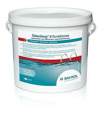 BAYROL CHLORILONG  5 Funktionen MultiTabs 5 kg / FREI HAUS / Pool Superflock