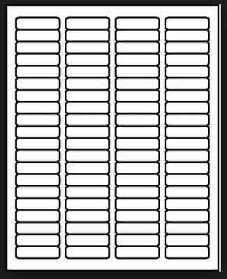 100 Sheets White Laser Inkjet 1.75x.50 Return Address Mailing Labels 80-up