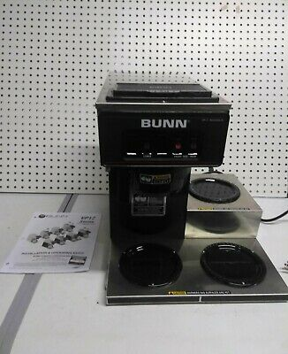 New Bunn Commercial Coffee Maker Machine 3 Pot Warmer Pourover 12 Cup Brewer