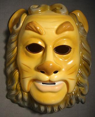 THE WIZARD OF OZ COWARDLY LION HALLOWEEN MASK PVC / PLASTIC - Wizard Halloween Mask