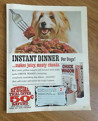 1967 Chuck Wagon Dog Food Ad  Old English Sheep Dog