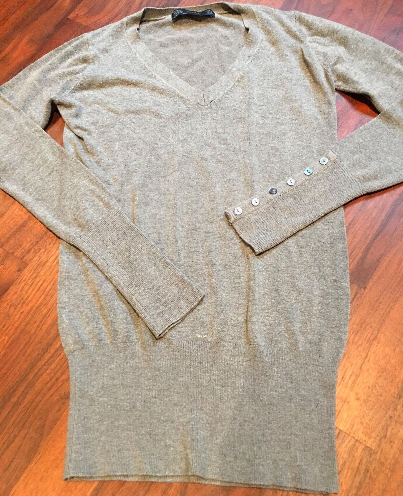 Zara eleganter Strick Pullover Pulli für Damen in grau Gr. S