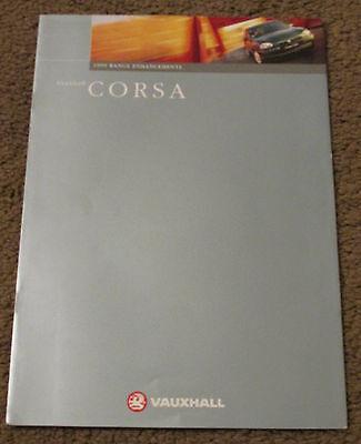 1998 VAUXHALL CORSA RANGE 99MY ENHANCEMENTS BROCHURE