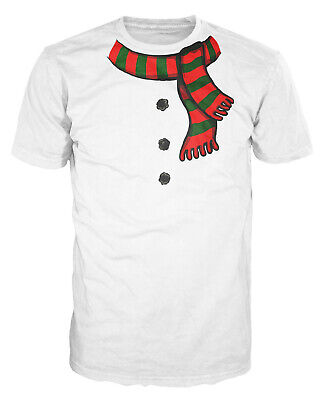 Funny Christmas Costume (Snowman Costume Funny Christmas Fancy Dress Xmas Fake Scarf Buttons)