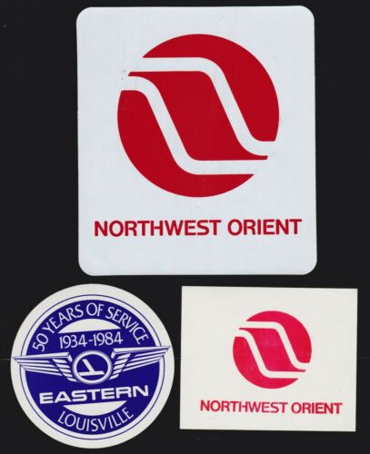 US Vintage Northwest Orient & Eastern Airlines Luggage Tags/Labels