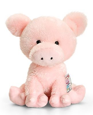Pippins Plüschtier Schwein Curly Kuscheltier Keel Toys, Stofftier Ferkel ca.14cm