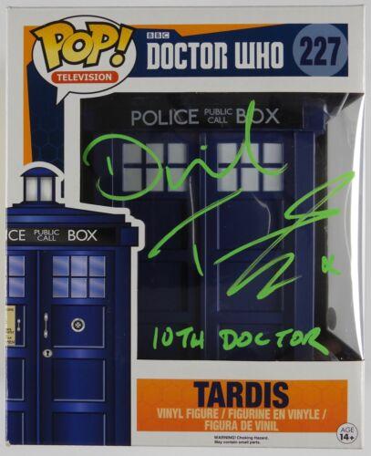David Tennant Doctor Who 10th Signed Autograph Funko Pop 227 JSA COA Tardis