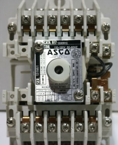 Used (Excellent Condition) 917 Asco 12 Pole Lighting Contactor 120 Volt 10 Stock