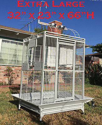 "Extra Large Parrot Cage For Macaw Cockatoo African Grey Amazon 32""X23""X66""H 269"
