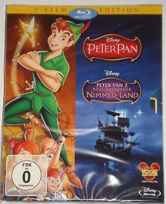Peter Pan Teil 1+2 Blu Ray NEU OVP im Schuber 2-Film Edition
