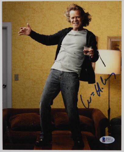 William H Macy Shameless Autograph Signed Photo Beckett BAS 8 x 10