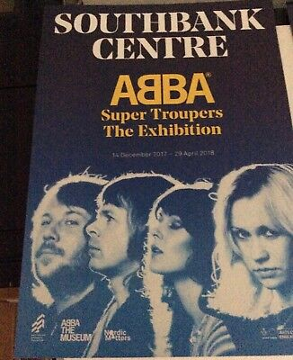 ABBA Abba Super Troupers Exhibition London promotional flyer, new