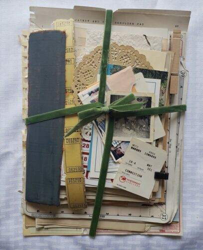 100+ Lot Old Unique Book Paper Ephemera Collage Junk Journal Altered Art #18A