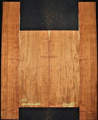 Guitar Luthier Tonewood FIGURED MACACAUBA GRANADILLO Acoustic backs sides set