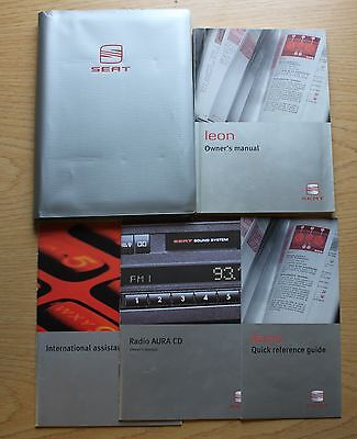 SEAT LEON HANDBOOK OWNERS MANUAL WALLET 1999–2006 PACK  9017