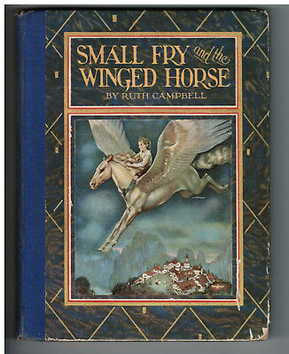 Antique 1927 PEGASUS Children's Story Bk BEAUTIFUL Original Color Illustrations!