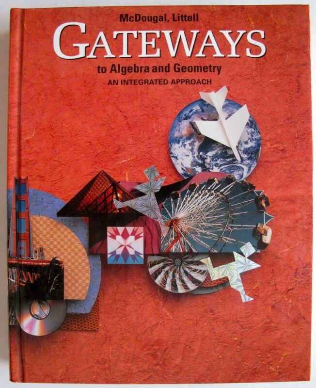 Middle & High School Algebra I & Geometry Math Textbook - Great Tutoring Book!