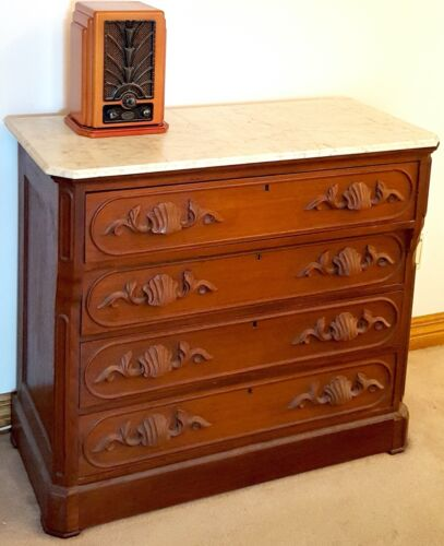 Beautiful, 4-drawer Antique  Dresser with Marble Top, Pristine, extremely RARE!