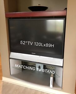 52 inch TV with stand
