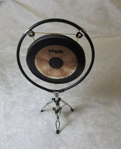 MINIATURE 1/6 DOLL FIGURE SCALE MINI REPLICA DRUM SET PAISTE GONG & STAND ONLY