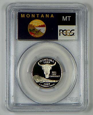 2007-S MONTANA CLAD  PROOF STATE QUARTER PCGS PR69DCAM