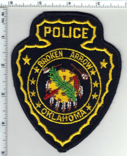 Broken Arrow Police (Oklahoma) Yellow Letters Shoulder Patch from the 1980