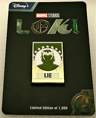 Disney Studios Loki Believe / Lie Marvel Comics LE Lapel Pin New NOS MIP