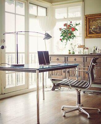 1980s ICF De Padova Eames Aluminium chair Italian Mid Century Modern MCM design