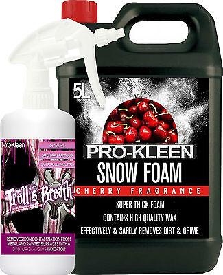 Iron Contamination Remover Alloy Wheel Cleaner Fallout Decontamination Snow Foam