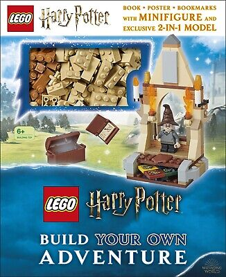 Harry Potter Lego Minifigure EXCLUSIVE 2 in 1 Build Bricks Model With Book - NEW