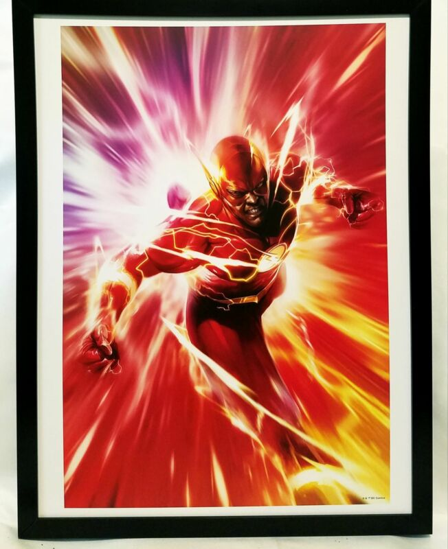 Flash by Francesco Mattina FRAMED 12x16 Art Print DC Comics Poster
