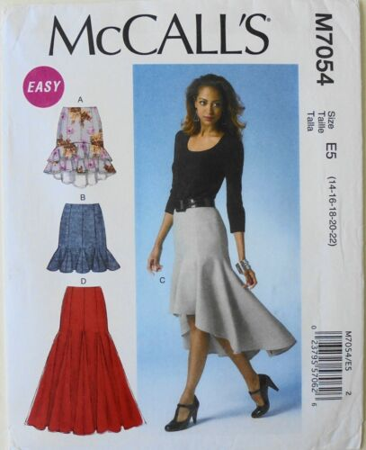 McCalls 7054 EASY Misses Skirts Sewing Pattern 14-22