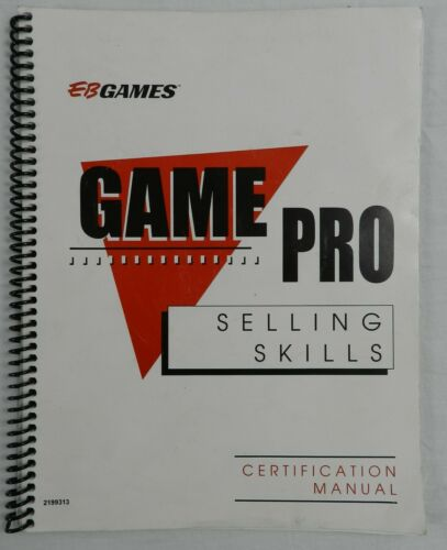 Electronics Boutique EB Games Pro Selling Skills Employee Certification Manual