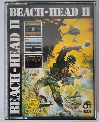 BEACH HEAD II - US Gold complete - Commodore 64 (C64, C128) - TESTED - See pics