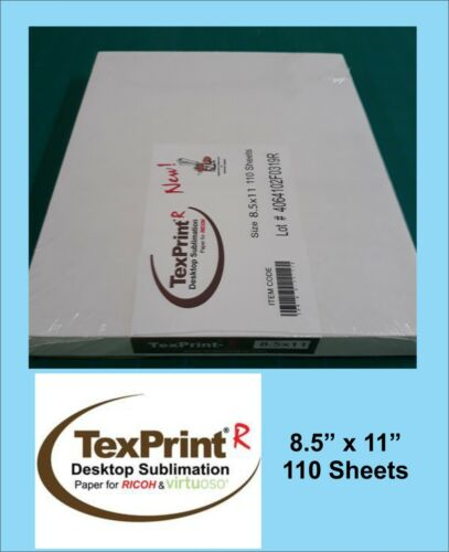 TexPrint R Sublimation Transfer Paper Box of 110 Sheets 8.5x11