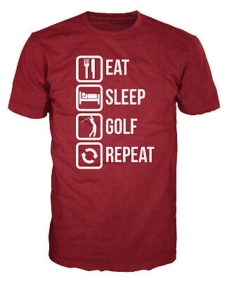 Eat Sleep Golf Repeat Funny PGA Open Masters Golfer T-shirt