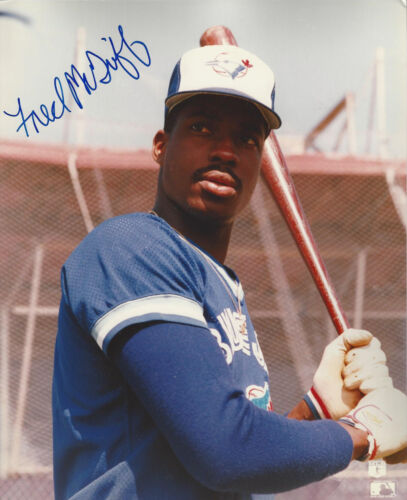 Toronto Blue Jays power hitter  Fred Mcgriff autographed 8x10  batting photo