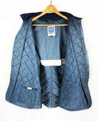 Men's Barbour PANTONE Quilted Jacket Blue Casual Barbour Liddesdale Coat - 2XL