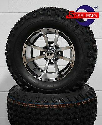 "GOLF CART 12"" STORM TROOPER WHEELS / RIMS and 23"" ALL TERRAIN TIRES (4)"