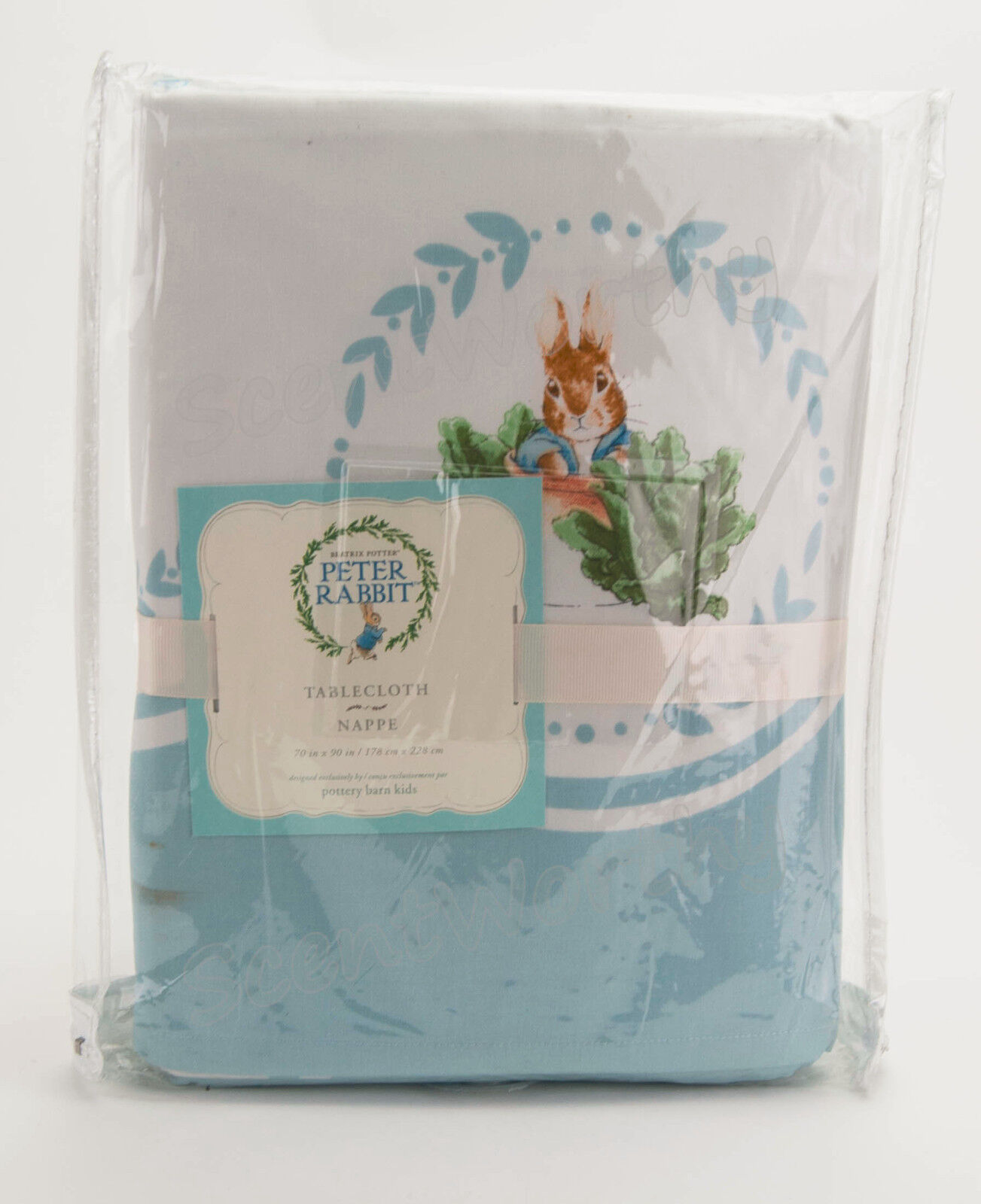 Pottery-Barn-Kids-PETER-RABBIT-Tablecloth-70x90-Beatrix-
