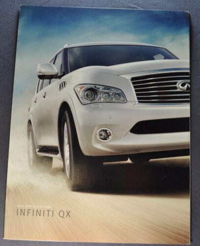 2012 Infiniti QX Specifications Sales Brochure Folder Excellent Original 12