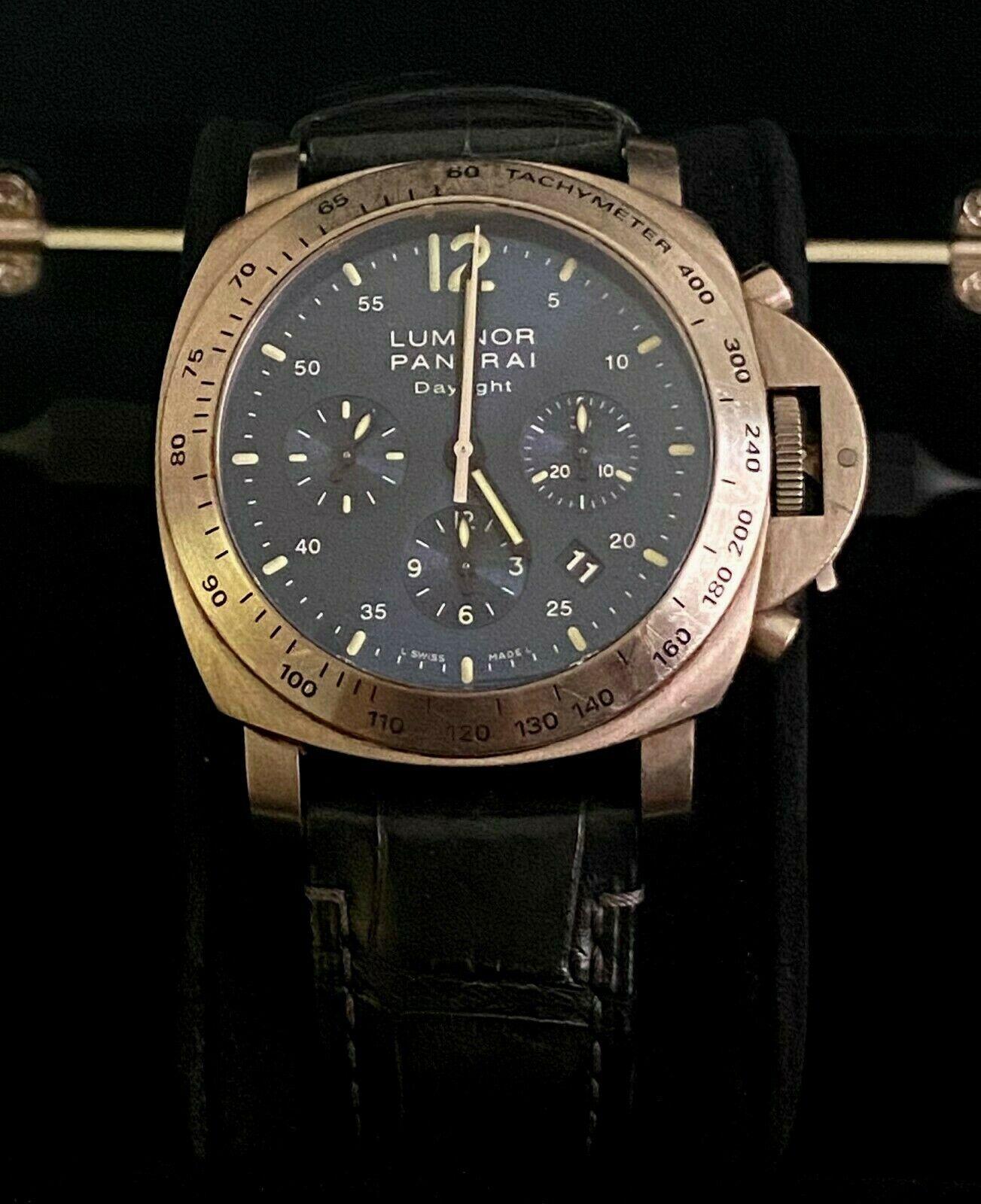 PANERAI Men's Luminor Watch Firenze 1860 Blue Dial Leather Wrist Strap Limited - watch picture 1