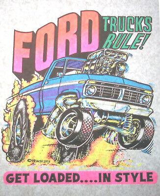 Ford Trucks Rule Vintage 70s Roach T-shirt Transfer