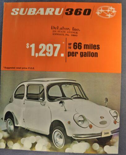 1969 Subaru 360 Sales Brochure Sheet Minicar Nice Original 69