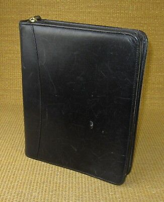 Classic 1.5 Rings Black Leather Franklin Coveyquest Zip Plannerbinder Usa