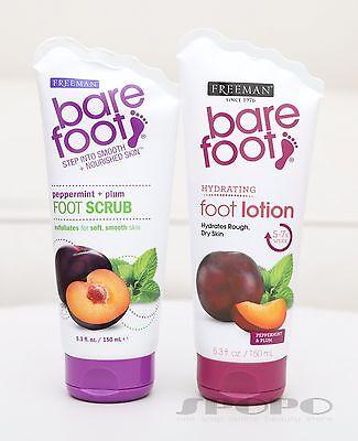 - Freeman Bare Foot Peppermint + Plum Foot Scrub / Hydrating Foot Lotion