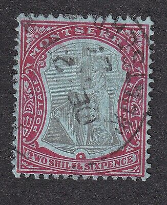 Montserrat 1908  2/6d red/blue used