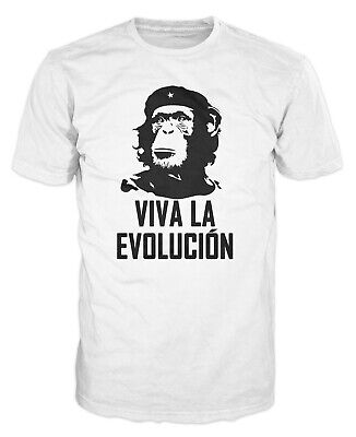 Viva La Evolucion Funny Evolution Che Guevara Monkey Hat Military Spoof T-shirt