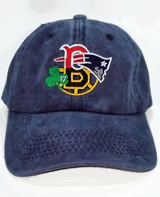 Golfer Boston 4 Teams Baseball Hat ,cap  Patriots , Bruins , Red Sox , Celtics